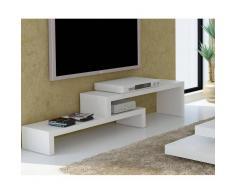 CLIFF 120 meuble TV laque blanc mat design