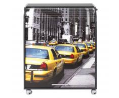 Meuble info rideau coulissant taxi noir