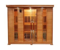 items-france LUXE 5 PL - Sauna infrarouge luxe 5 places 220x160x190cm