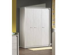 Leylina Armoire design à 3 portes ouvrantes pour chambre bébé coloris chêne gis doux
