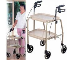Chariot de cuisine et déambulateur combinés