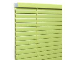 Store vénitien aluminium lames 25mm - Tendance vert bambou