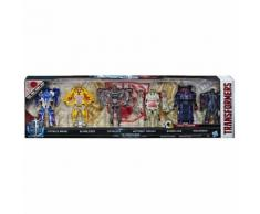 TRANSFORMERS Pack de 6 figurines Turbo Changer - H 11 cm - C2034