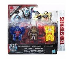 TRANSFORMERS Pack de 3 figurines Tiny Turbo Changers - C2038