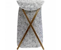 MARQUE GENERIQUE Panier à linge pliant - Tissu et bambou