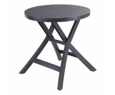 ALLIBERT BALCON - Table pliante Oregon anthracite