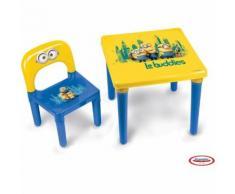 LES MINIONS Table avec 1 chaise enfant HMIN005