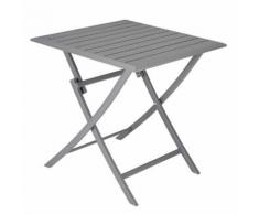 CARREFOUR BALCON - Table carrée aluminium pliante - FAJ17121T