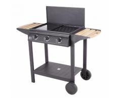 GARDEN MAX Barbecue gaz MADERE - 3 feux - AU002TTWCAR