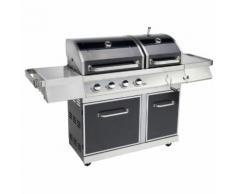 LE BARBECUE Barbecue gaz GZ400 DUO - 4 brûleurs - 14 kW - 720-0917