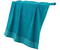 douceur dintérieur drap de bain 90 x 150 cm eponge adelie bleu
