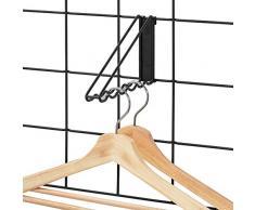 iDesign 08077EU Barre système modulaire, Grande patère en métal pour 6 cintres, Portant vêtements à Fixer sur Grille Murale pour penderie, Salle de Bain, etc, Noir Mat, 19, 4 cm x 2, 7 cm x 11, 6 cm