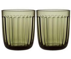Iittala 1026950 Verre à eau, Vert mousse/transparent, Ø 9.1cm