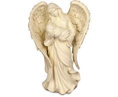 Angelstar Soin Embrace Table Femelle et Enfant Figurine Ange, en métal, Multicolore