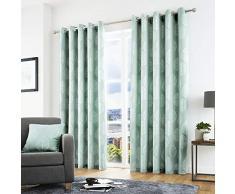 Curtina Rideaux à œillets doublés, 100% Polyester, Bleu Canard, 167,6 cm de Large x 137,2 cm de Hauteur (168 x 137 cm)