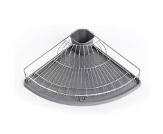 Zeller Égouttoir à Vaisselle dangle en Plastique/métal Gris