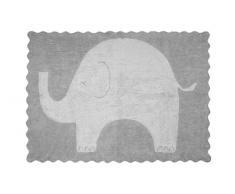 Aratextil Elefantito Tapis Enfant, Coton, Gris, 120Â x 160Â cm