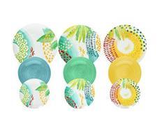 Tognana ME070185596 Service de table 18 pièces Sunny en porcelaine