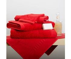 Lasa Home Serviette Invité, Coton, Rouge, 33x50x1 cm