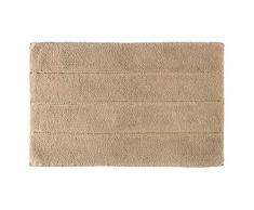iDesign Stripe tapis de bain doux, sortie de douche rectangulaire en coton, beige