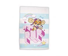 Paw Patrol Pastels Polaire Couvre-lit | Skye Bleu et Blanc Filles Motif Super Doux Couverture | Idéal pour nimporte Quelle Chambre denfant