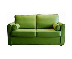 Home Spirit Canapé fixe PICCOLO 2 places tissu tweed vert anis