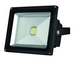 Perel LEDA3003CW-B Projecteur LED dExtérieur Puce Epistar, Aluminium, 30 W, Multicolore