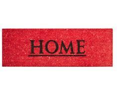 Jute & Home Co. Fond PVC Paillasson Imprimé Coco/PVC Rouge 26 x 75 cm