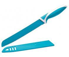 Eliplast Ligne Cuisine Couteau à Pain, Acier Inoxydable, Light Blue
