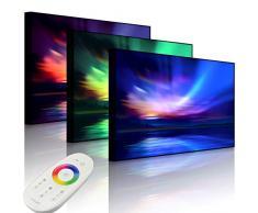 Lightbox-Multicolor Tableau Lumineux à LED avec éclairage polarisant Nordique 80 x 60 cm