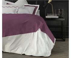 Suite 2603 by Adolfo Carrara Studio Design Drap supérieur, 100% Coton, lit, 39x 26x 4cm 39x26x4 cm Améthyste