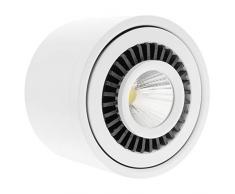 BeMatik NE048 Spot LED de surface 20 W 220 V AC 3000 K Blanc 110 mm