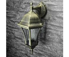 Applique rustique dextérieur or antique E27 balcon jardin éclairage