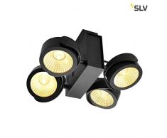 SLV TEC KALU CW, éclairage mural et plafonnier à LED pour intérieur et extérieur Quad Noir 24 ° 3000 K Aluminium 60 W