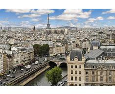 Tapisserie poster panoramique PRINTEMPS A PARIS 4 x 2,70 m | Déco et photo murale XXL Qualité HD Scenolia