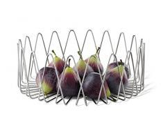 ZACK Bivio Corbeille à Fruits, Argent, 30x 11,8cm/L