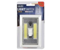 ASAB 2W LED COB 2W Interrupteur Super Bright Lampe Nuit Portable Alimenté par Batterie sans Fil Idéal sous Armoire Abri de Jardin Tente déclairage–Single
