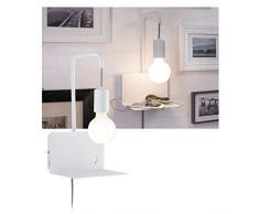 Paulmann 79812 Liseuse Calvani Max. 40Watts Lampe Blanc Lecture Métal Éclairage Mural E27