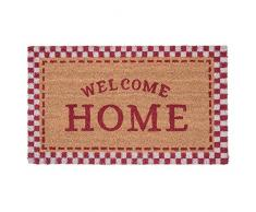 Clayre & Eef MC133 Paillasson Welcome Home Rouge/Naturel 75 x 45 x 1 cm