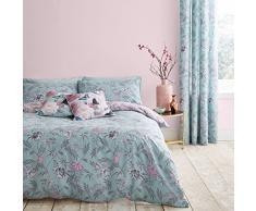 Catherine Lansfield Housse de Couette, Bleu Canard, Parure pour lit Simple