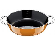 Silit Passion Sauteuse avec couvercle en verre et céramique fonctionnelle Silargan Orange Ø 28 cm, Orange foncé., 28 centimeters