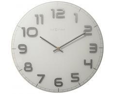 NeXtime 3105wi Classy Large Horloge Verre Blanc