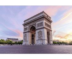 Tapisserie déco poster PARIS ARC DE TRIOMPHE 3 x 2,70 m   Déco et photo murale XXL Qualité HD Scenolia