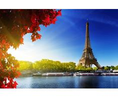 Inspired Walls Paris Tour Eiffel Paysage Poster géant-A5A4A3A2A1A0Tailles