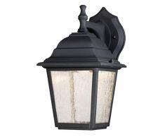 Westinghouse Lighting 6400140 64001 Luminaire Mural dextérieur à LED à intensité Variable à Une Lampe, Finition en Noir avec Verre granuleux Clair, 9 W