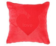 RIOMA Amoureux avec Coussin Beige 20 x 20 cm Rouge