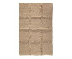 iDesign Grid tapis de bain doux, sortie de douche rectangulaire en coton, beige