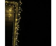 CLGarden 1623 Guirlande lumineuse à LED pour intérieur et extérieur Blanc chaud Câble vert 4 m