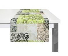 Wirth Chemin de Table, Polyester, Vert, 40 x 150 cm