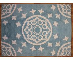 Aratextil Dune Tapis Enfant, Coton, Bleu Ciel, 120Â x 160Â cm